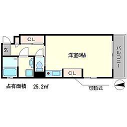 ヴァレ銀閣寺[1階]の間取り
