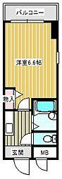 パセオRF[6階]の間取り