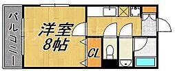 福岡県福岡市博多区大博町の賃貸アパートの間取り