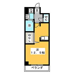 ネクステージ中井[5階]の間取り