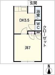リックスハイツ102[2階]の間取り