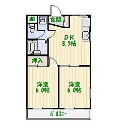 東京都葛飾区東金町5丁目の賃貸マンションの間取り