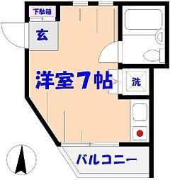 トライアングル[2F号室]の間取り