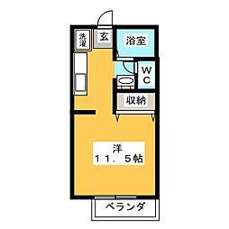 プレミールA[1階]の間取り