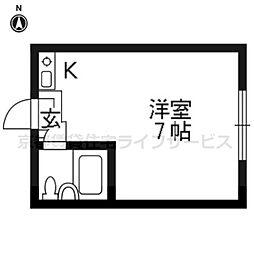 香山ハイツ[303号室]の間取り