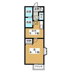 リナシメントA[1階]の間取り