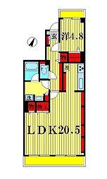 シャルマンコーポ松戸[7階]の間取り