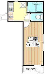 オペラシオンボォヌール竹の塚[205号室]の間取り