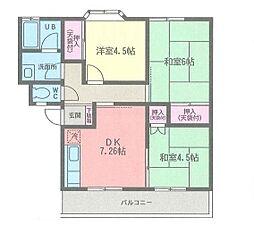 サンハイツ松風[2階]の間取り