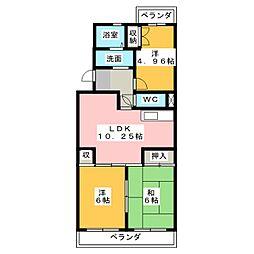 サンライズ本郷[3階]の間取り