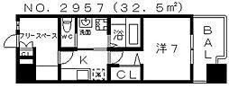 ドゥスプランドゥール[505号室号室]の間取り