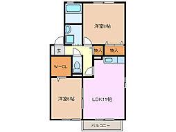 アヴェニールA・B[2階]の間取り