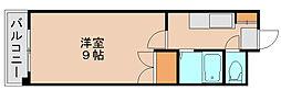 スタジオアパートメントオクダ[4階]の間取り