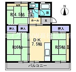 香川県高松市勅使町の賃貸マンションの間取り