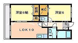 兵庫県三木市末広2丁目の賃貸マンションの間取り
