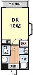 ドエル竹鼻[706号室号室]の間取り