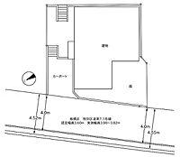 建築基準法第43条第1項但書取得済みプラン (配置図)延床面積:96.02m2