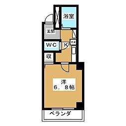 プレサンス京都二条城前[-1階]の間取り