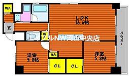 富田町二丁目マンション(仮) 10階2LDKの間取り