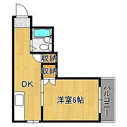 ユニ長吉ビル[3階]の間取り