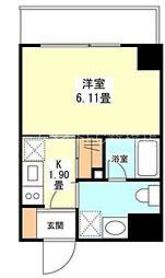 東京都港区西新橋1丁目の賃貸マンションの間取り