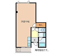 三重県松阪市五月町の賃貸アパートの間取り
