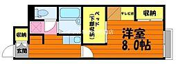 岡山県倉敷市徳芳丁目なしの賃貸アパートの間取り