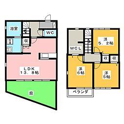 [テラスハウス] 三重県桑名市福島新町 の賃貸【/】の間取り