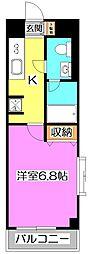 東京都練馬区東大泉2丁目の賃貸マンションの間取り