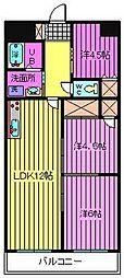埼玉県さいたま市南区南浦和3丁目の賃貸マンションの間取り