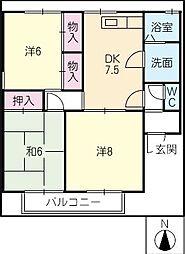 サンファミールII B[2階]の間取り
