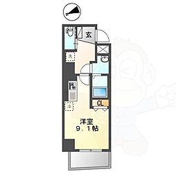 Chez Kotobuki 〜シェ・コトブキ〜 2階ワンルームの間取り