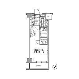 パークハビオ月島 2階ワンルームの間取り