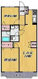 鷺沼パークサイドマンション[102号室号室]の間取り