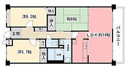 アメニティコート甲子園II[3階]の間取り