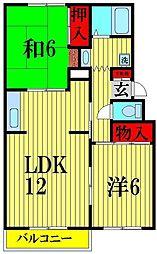 カームハイツII[2階]の間取り