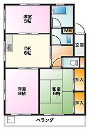 かとうマンション[3階]の間取り