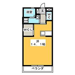 ル・リオン楓[2階]の間取り