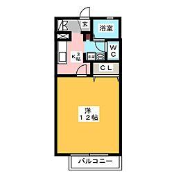 カーサフェリーチェ A棟[2階]の間取り