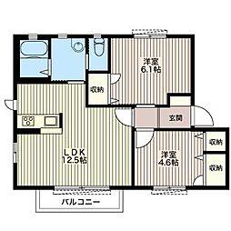 パインハウス大磯I[2階]の間取り
