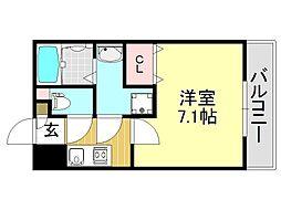 アッシュメゾン加美正覚寺II[3O4号室号室]の間取り