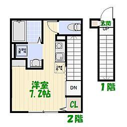 東京都葛飾区高砂3丁目の賃貸アパートの間取り