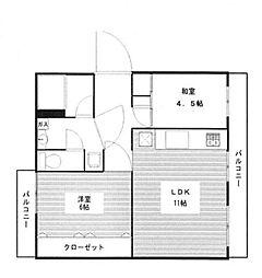 笠幡グリーンパーク12号棟[104号室号室]の間取り