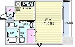 Osaka Metro長堀鶴見緑地線 松屋町駅 徒歩1分の賃貸マンション 6階1Kの間取り