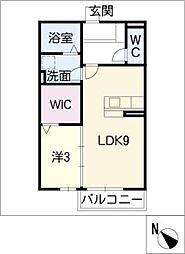アープトライ東鷹跡 A[2階]の間取り