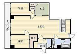 リファレンス三萩野[1階]の間取り