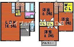 [テラスハウス] 岡山県岡山市北区西長瀬丁目なし の賃貸【/】の間取り
