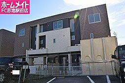 愛知県豊明市三崎町高鴨の賃貸アパートの外観