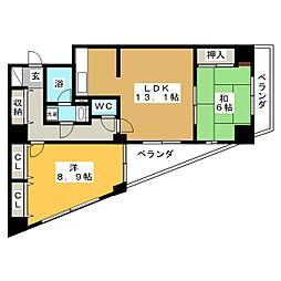 グリーンパーク小松島[6階]の間取り