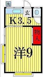 吉野荘[201号室]の間取り